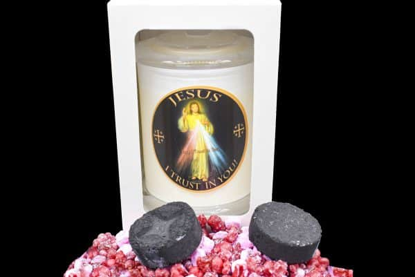 divine-mercy scented religious candle gdcandles