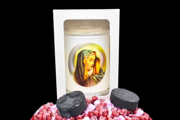 our lady scented religious candle gdcandles