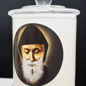 saint charbel scented religious candle gdcandles
