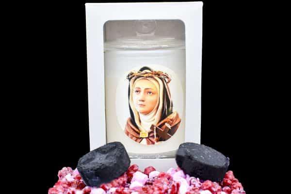 saint veronica giulliani scented religious candle gdcandles