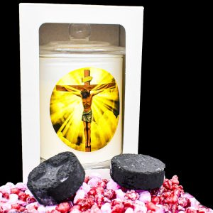 the cross scented religious candle gdcandles